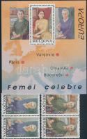 1996 Europa CEPT híres nők sor párokban Mi 210-211 + blokk Mi 9