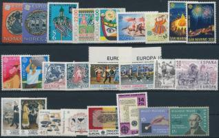 Europa CEPT 1981-1982 11 sets + 3 individual values, Europa CEPT 1981-1982 11 klf sor + 3 klf önálló érték