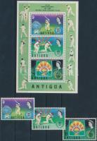 1972 Krikett sor Mi 286-288 + blokk 5
