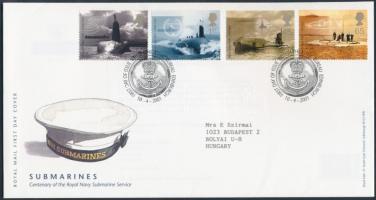 2001 100 éves a tengeralattjáró-hadosztály sor Mi 1928-1931 FDC-n