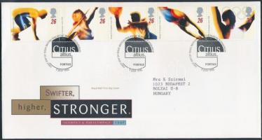 1996 Nyári olimpiai játékok ötöscsík Mi 1642-1646 FDC-n