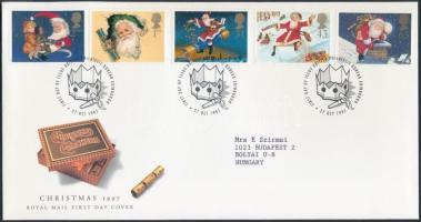 1997 Karácsony sor Mi 1714-1718 FDC-n