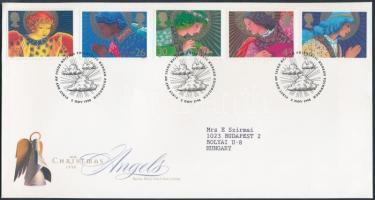 1998 Karácsony sor Mi 1772-1776 FDC-n