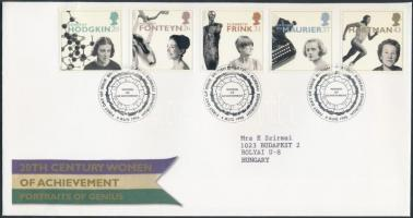 1996 Híres nők, benne Europa CEPT bélyegek sor Mi 1647-1651 FDC-n