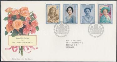 1990 Erzsébet anyakirálynő 90. születésnapja Mi 1275-1278 FDC-n