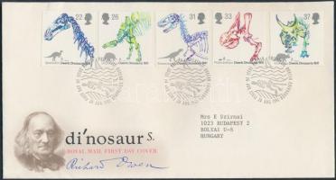 1991 Dinoszaurusz csontvázak sor Mi 1350-1354 FDC-n
