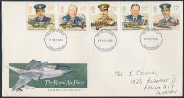 1986 Királyi Légierő sor díszcsomagolásban Mi 1085-1089 FDC-n