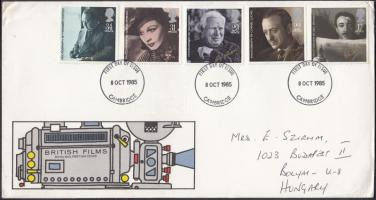 1985 Brit filmek sor Mi 1044-1048 FDC-n