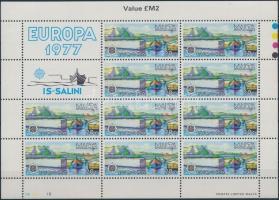 1977 Europa CEPT tájak kisív Mi 555