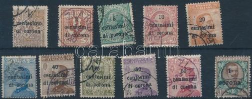 Venezia-Julia, Trentino és Dalmácia közös kiadás 1919 Mi 1-11