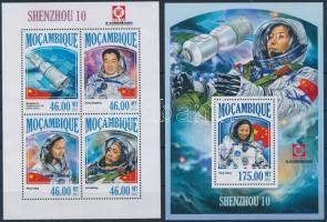 2013 Űrprogram ,,Shenzhou 10 kisív + blokk Mi 6927-6930 + 825