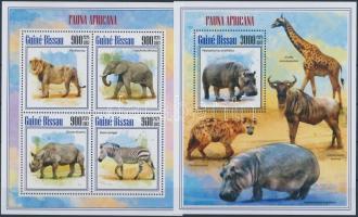 2013 Afrikai állatok kisív 4é + blokk
