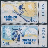 2014 Téli olimpia Sochi ívszéli sor Mi 861-862
