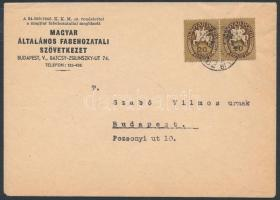 1946 (11. díjszabás) Budapesti helyi levél