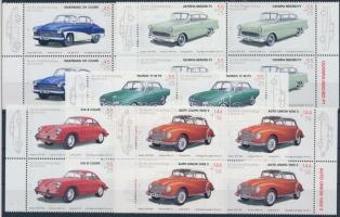 2003 Veterán autók sor ívszéli 4-es tömbökben Mi 2362-2366