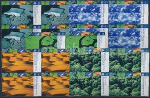 2004 Éghajlati övezetek sor négyestömbökben Mi 2423-2427