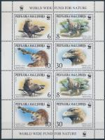 WWF: Imperial eagle minisheet, WWF: Parlagi sas kisív