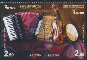 2014 Europa CEPT Hangszerek 2 oldalon fogazatlan pár Mi 638E-639E