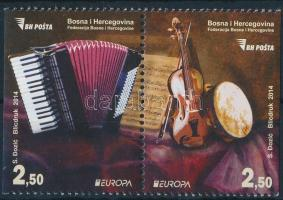 2014 Europa CEPT Hangszerek 1 oldalon fogazatlan pár Mi 638D-639D