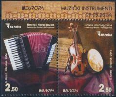 2014 Europa CEPT Hangszerek 1 oldalon fogazatlan ívszéli pár Mi 638D-639D