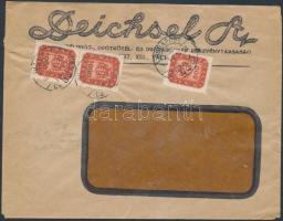 1946 (19.díjszabás) Helyi céges levél Milpengős 500mP és 2x1000mP bérmentesítéssel