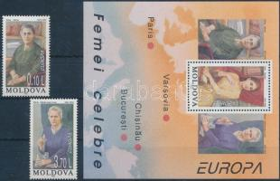 1996 Europa CEPT sor Mi 210-211 + blokk Mi 9
