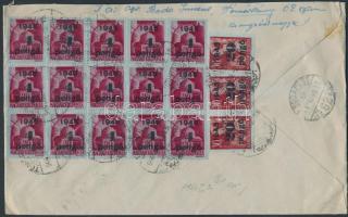 1946 (5.díjszabás) Távolsági levél Kisegítő (II) 15x40P/30f + 3x20P/30f bérmentesítéssel