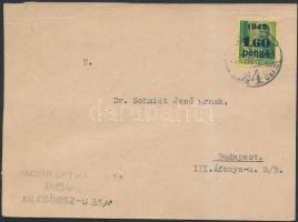 1945 (2.díjszabás) Helyi levelezőlap Kisegítő (II) 1,60P/12f bérmentesítéssel
