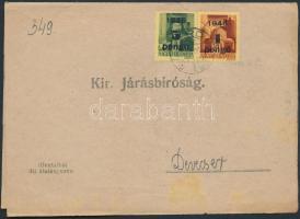 1945 (3.díjszabás) Kézbesítési bizonyítvány Kisegítő (II) 1P/20f + 5P/8f bérmentesítéssel / Printed matter