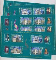 2008 Iasi városa kisív sor Mi 6319-6322 + blokk 435