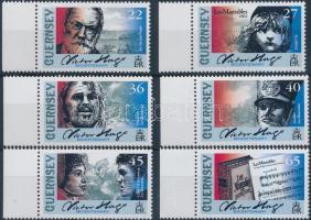 2002 Victor Hugo születésének 200. évfordulója ívszéli sor Mi 919-924