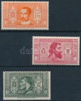 1932 Dante sor 3 értéke Mi 381, 383-384