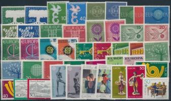 1956-1986 52 klf bélyeg teljes sorokban 2 stecklapon