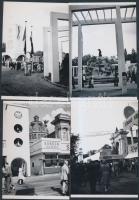 cca 1930 Budapesti Nemzetközi Vásár és Kiállítás, 13 db régi negatívról készült modern nagyítás, 13x9 cm