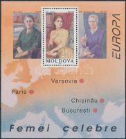 Europa CEPT, famous women block, Europa CEPT, híres nők blokk