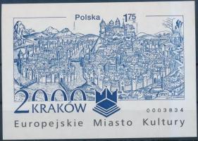2000 Krakkó Európa kulturális fővárosa vágott blokk Mi 140 B