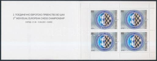 2001 Sakk EB. magánkiadású bélyegfüzet Mi 231