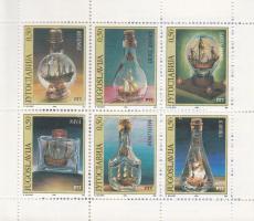 Bottle Ships stamp booklet, Palackhajók bélyegfüzet