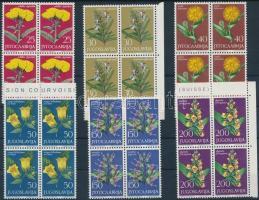 Virágok (VI.) sor 4-es tömbökben, Flowers (VI) set in blocks of 4