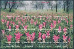 Amazing Thailand (III): Flower minisheet, Csodálatos Thaiföld (III): Virág kisív
