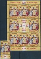 Easter margin stamp + minisheet, Húsvét ívszéli bélyeg + kisív