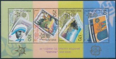 2005 50 éves Europa CEPT bélyeg blokk Mi 13