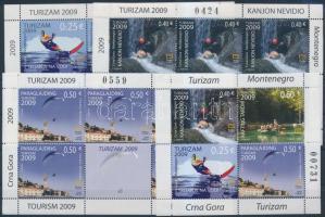 Tourism diff 3 minisheet + stampbooklet sheet, Turizmus 3 klf kisív + bélyegfüzetlap