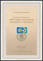 1987 Rotary emléklap Mi 1327