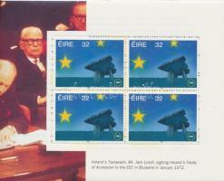 European markets stamp booklet, Európai piac bélyegfüzet (különálló lapok)