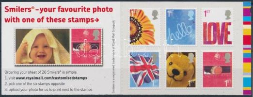 Greeting stamps stamp booklet with self-adhesive stamps, Üdvözlő bélyegek bélyegfüzet öntapadós bélyegekkel