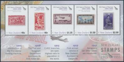 150th anniversary of New Zealand stamp (II) block, 150 éves az új zélandi bélyeg (II.) blokk