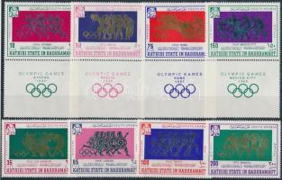 1967 Nyári olimpia sor, közte szelvényes bélyegek Mi 175-182 A