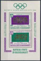 1967 Nyári olimpia blokk Mi 17 A