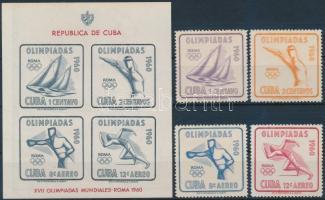 Summer Olympics, Rome set + block, Nyári Olimpia, Róma sor + blokk